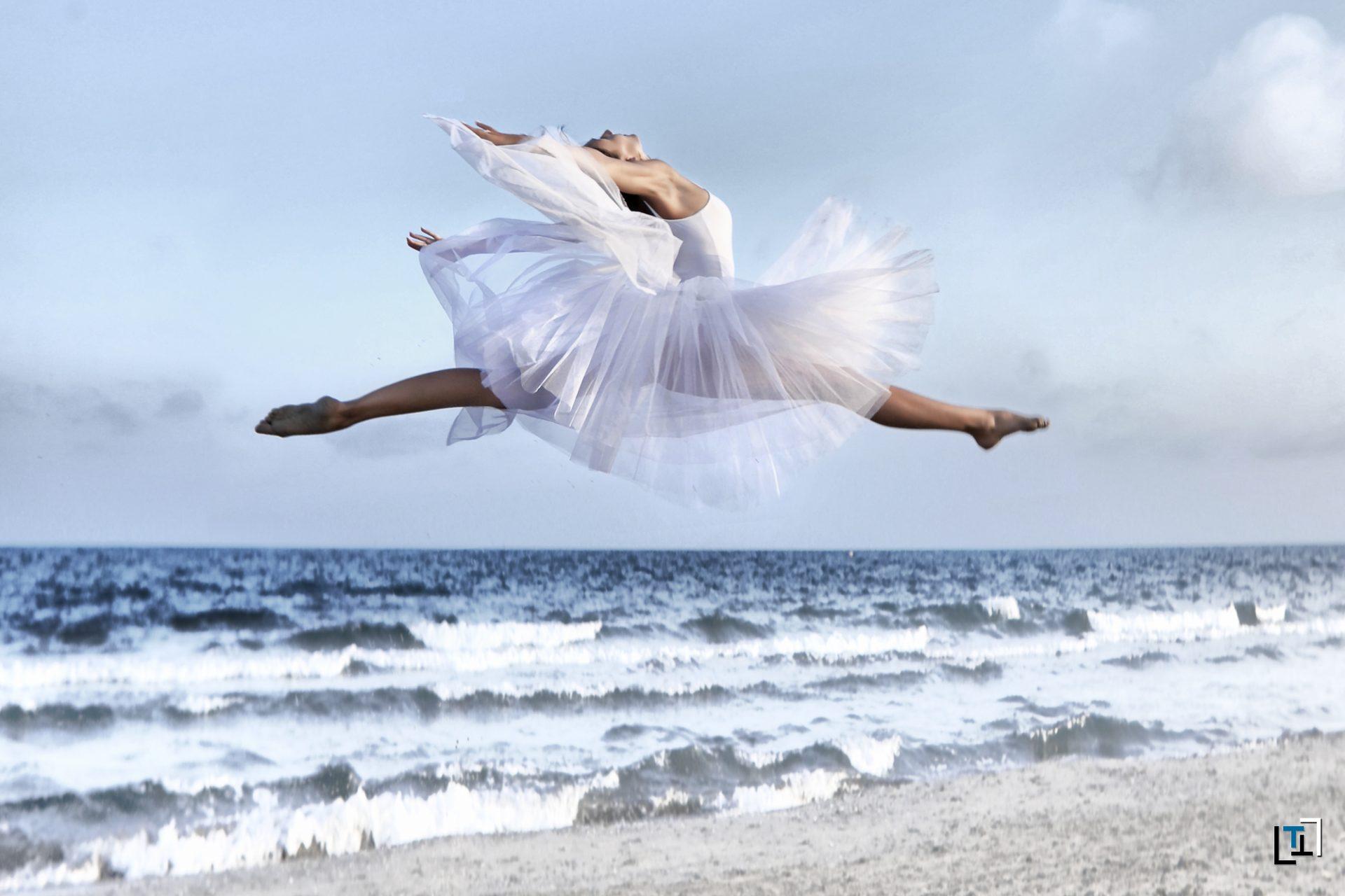 Sooting danse classique à la mer